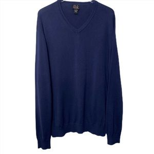 ^ Signature Collection Navy V Neck Sweater Size XL